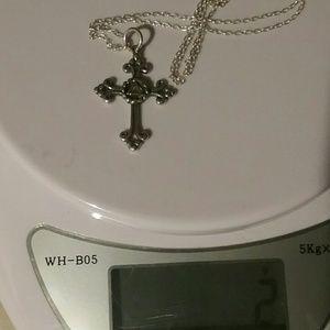 Jewelry - STERLING SILVER Lovely Cross Pendant VERY Sweet ♡